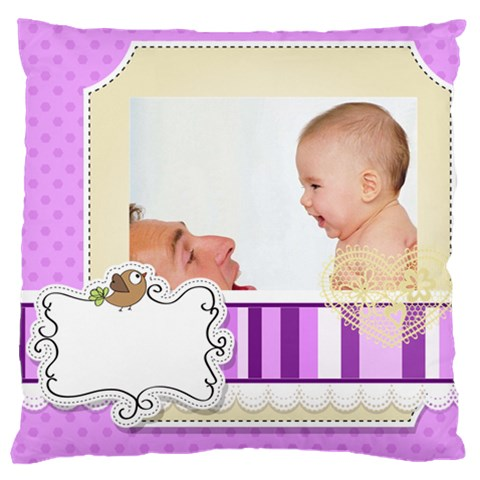Baby By Baby   Large Cushion Case (one Side)   Wg3qa29suygx   Www Artscow Com Front