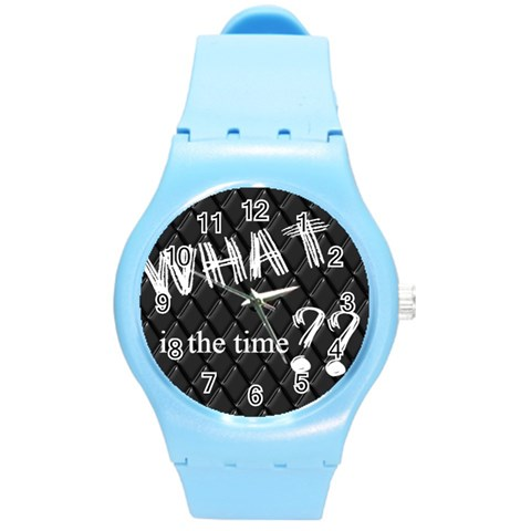 What   Watch   Nr 2 By Riksu   Round Plastic Sport Watch (m)   B4srt4nk8jud   Www Artscow Com Front