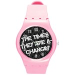 time -watch - Round Plastic Sport Watch Medium
