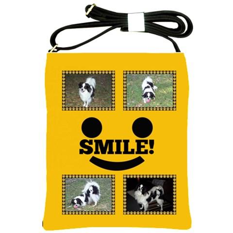 Smiley Sling Bag 2 By Joy Johns   Shoulder Sling Bag   Cd36hjtiahz1   Www Artscow Com Front