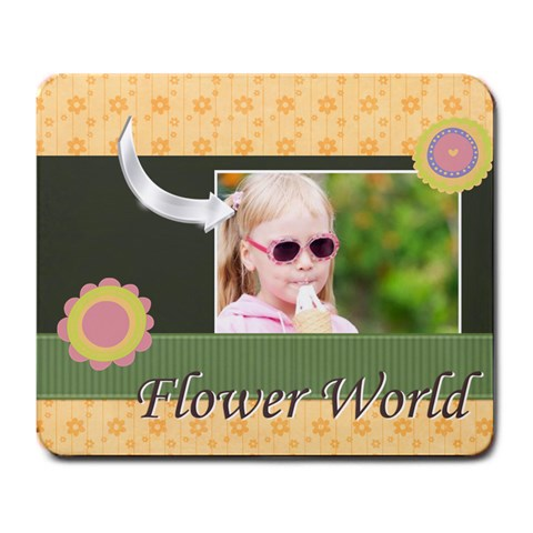 Girl By Joely   Large Mousepad   9y9pa2bf1qvd   Www Artscow Com Front