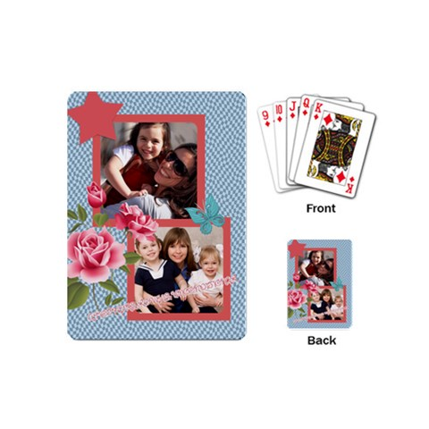 Mothers Day By Mom   Playing Cards (mini)   Flmvehu6l3ni   Www Artscow Com Back