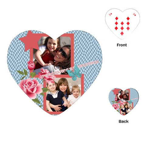 Mothers Day By Mom   Playing Cards (heart)   Bmu8x5jfadpp   Www Artscow Com Front