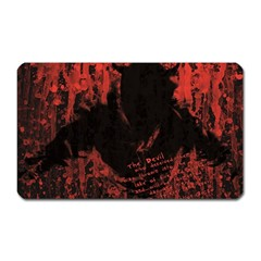 Tormented Devil Large Sticker Magnet (rectangle) by VaughnIndustries