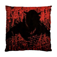 Tormented Devil Single Sided Cushion Case by VaughnIndustries