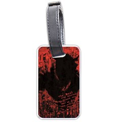 Tormented Devil Single Sided Luggage Tag by VaughnIndustries