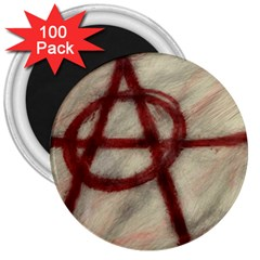 Anarchy 100 Pack Large Magnet (round)