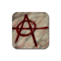 Anarchy 4 Pack Rubber Drinks Coaster (square) by VaughnIndustries