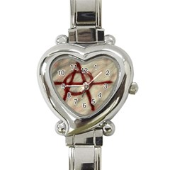 Anarchy Classic Elegant Ladies Watch (heart) by VaughnIndustries