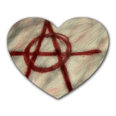 Anarchy Mouse Pad (heart) by VaughnIndustries