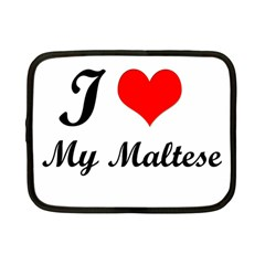 I Love My Maltese 7  Netbook Case
