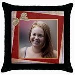 Precious Throw Pillow - Throw Pillow Case (Black)