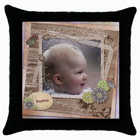 Named And Framed Throw Pillow By Deborah   Throw Pillow Case (black)   Efyhy9lunukt   Www Artscow Com Front