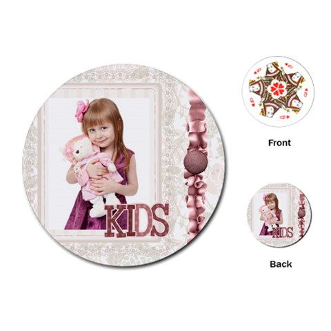 Kids By Jo Jo   Playing Cards (round)   9y3vesm8trth   Www Artscow Com Front