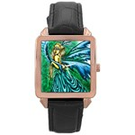 Something Exotic & Intriguing II  Rosegold Plated Square Metal Watch