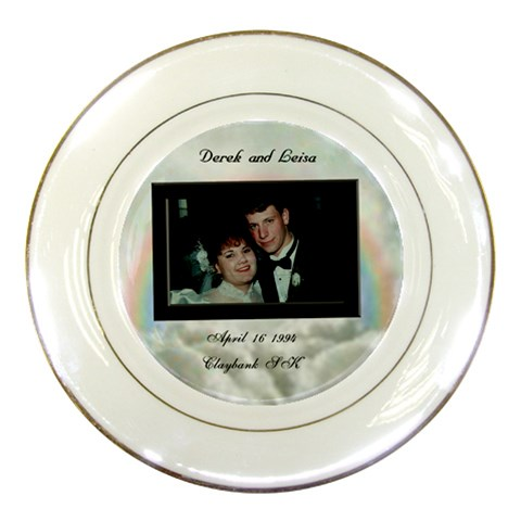 Derick3 By Peter   Porcelain Plate   Zg7601ndkajy   Www Artscow Com Front