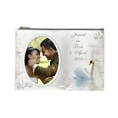 Our Love Cosmetic Bag (l) By Deborah   Cosmetic Bag (large)   85vndgg5otrw   Www Artscow Com Front