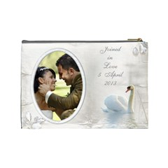 Our Love Cosmetic Bag (l) By Deborah   Cosmetic Bag (large)   85vndgg5otrw   Www Artscow Com Back