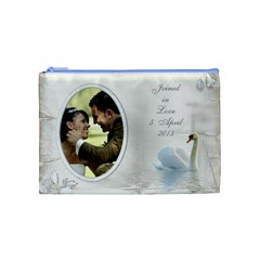 Our Love Cosmetic Bag (medium) By Deborah   Cosmetic Bag (medium)   8n22ui9eos1k   Www Artscow Com Front