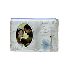 Our Love Cosmetic Bag (medium) By Deborah   Cosmetic Bag (medium)   8n22ui9eos1k   Www Artscow Com Back