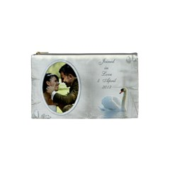 Our Love Cosmetic Bag (small) By Deborah   Cosmetic Bag (small)   Y7d9iyqp19ze   Www Artscow Com Front