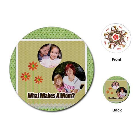 Mothers Day By Mom   Playing Cards (round)   E96pnux1kwvr   Www Artscow Com Front