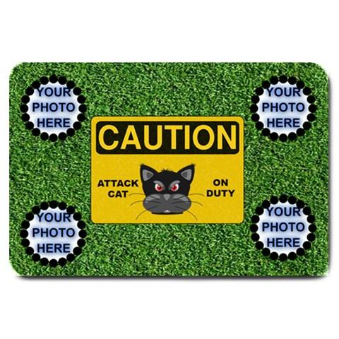 Attack Cat Large Door Mat By Joy Johns   Large Doormat   Rwui66mze2ku   Www Artscow Com 30 x20 Door Mat - 1