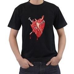 Cross My Heart Ll Black Mens'' T Shirt by DarkImage
