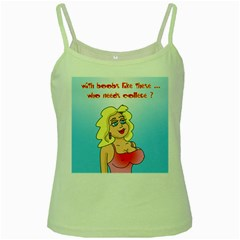 Boobs Like These Green Spaghetti Top by ColemantoonsFunnyStore