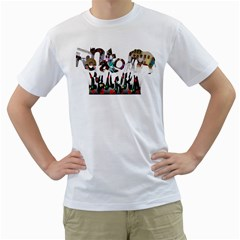 Papa   Fathers Day 2013 By Ria Collins   Men s T Shirt (white) (two Sided)   56p4lchqeui7   Www Artscow Com Front