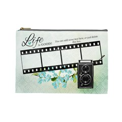 Forget Me Not Cosmetic Bag Large By One Of A Kind Design Studio   Cosmetic Bag (large)   8vfd4hi7xxsu   Www Artscow Com Front