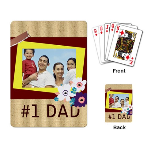 Fathers Day By Dad   Playing Cards Single Design   Cu35bjkrc9p0   Www Artscow Com Back