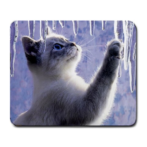 Icicle Kitten   Mousepad By Brayden Peacock   Large Mousepad   Oysenew2cadu   Www Artscow Com Front