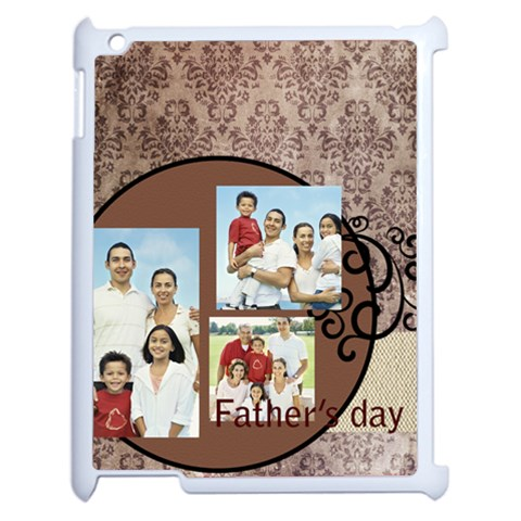 Fathers Day By Dad   Apple Ipad 2 Case (white)   Hdir3h5dao49   Www Artscow Com Front