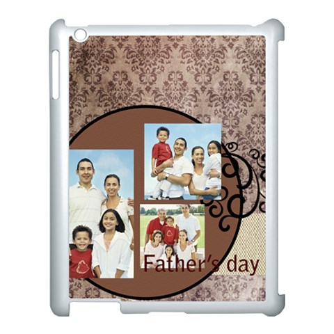 Fathers Day By Dad   Apple Ipad 3/4 Case (white)   A1ghbgcbpy2w   Www Artscow Com Front
