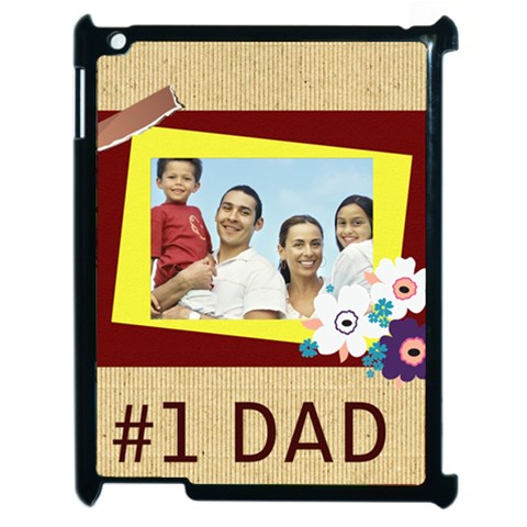 Fathers Day By Dad   Apple Ipad 2 Case (black)   Ltg9u1cb482c   Www Artscow Com Front
