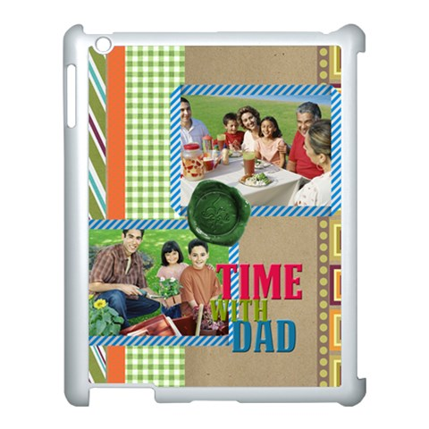 Fathers Day By Dad   Apple Ipad 3/4 Case (white)   Qow12q0y0y23   Www Artscow Com Front