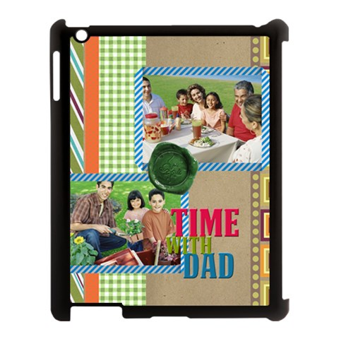 Fathers Day By Dad   Apple Ipad 3/4 Case (black)   Hg1boqdo45h2   Www Artscow Com Front