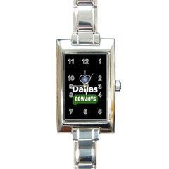 Dallas Cowboys Rectangular Italian Charm Watch by WordArtGift