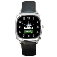 Dallas Cowboys Square Metal Watch by WordArtGift