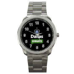 Dallas Cowboys Sport Metal Watch by WordArtGift
