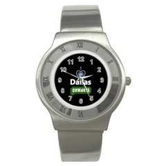 Dallas Cowboys Stainless Steel Watch by WordArtGift
