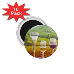 vine 10 Pack Small Magnet (Round)