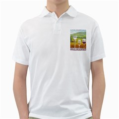 Vine White Mens  Polo Shirt