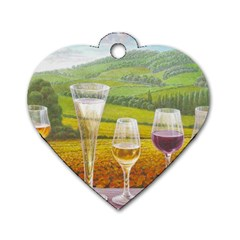 Vine Single Sided Dog Tag (heart)
