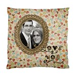 Love You Pillow 2 Sided - Cushion Case (Two Sides)