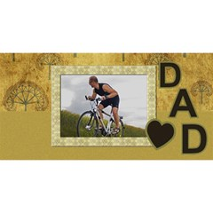 Love Dad 3d Card By Deborah   #1 Dad 3d Greeting Card (8x4)   9qigxaabvnou   Www Artscow Com Front