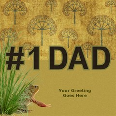 Love Dad 3d Card By Deborah   #1 Dad 3d Greeting Card (8x4)   9qigxaabvnou   Www Artscow Com Inside