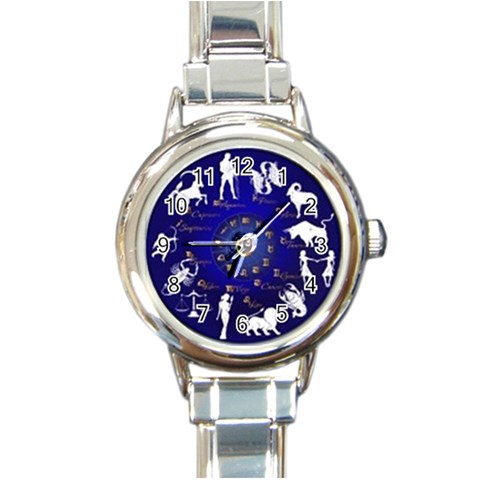 Horoscope By Divad Brown   Round Italian Charm Watch   O3q0koirg39e   Www Artscow Com Front