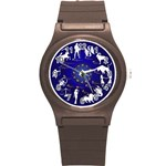 horoscope, star - Round Plastic Sport Watch Small
